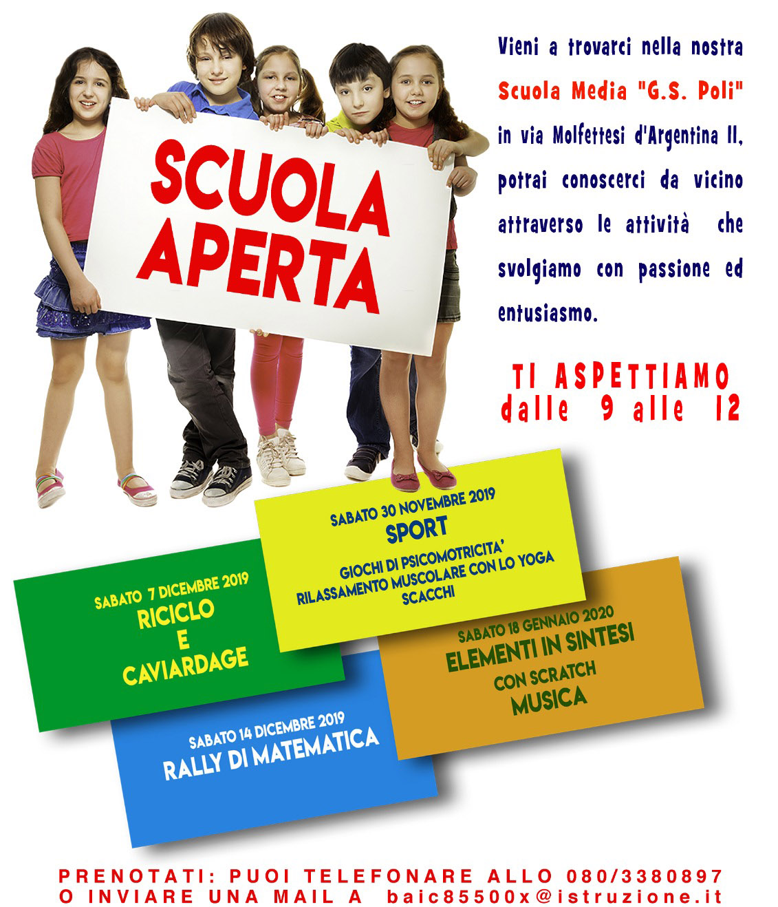 Open Day scuola Media Poli